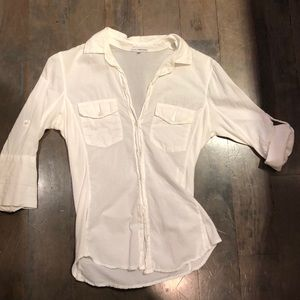 James Perse white button up